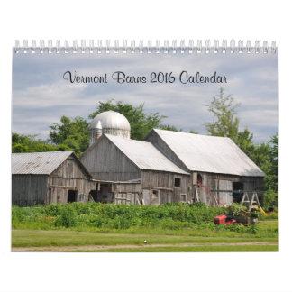 Graneros de Vermont - calendario 2016