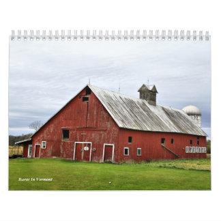 Graneros en Vermont Calendarios De Pared