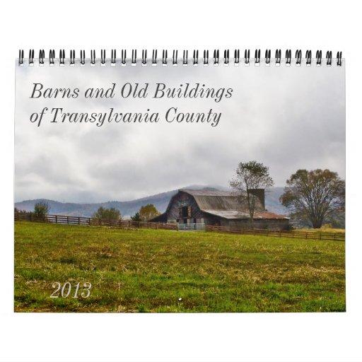 Graneros y edificios viejos en el condado de calendarios de pared