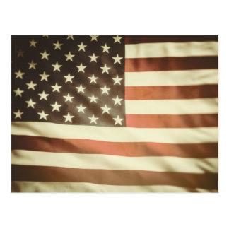 Grange American Flag Postcard