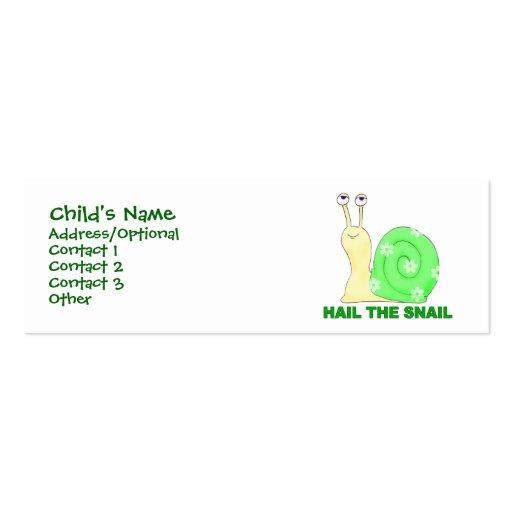 Granice el caracol tarjetas de visita mini
