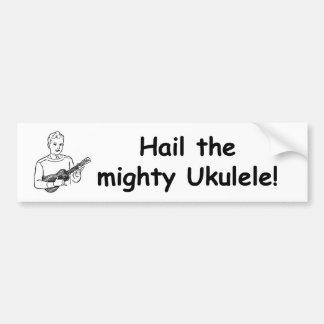 ¡Granice el Ukulele poderoso! Pegatina De Parachoque