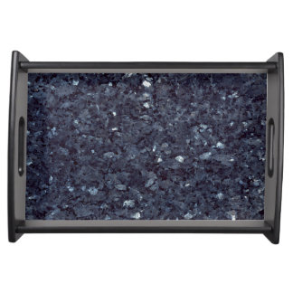 GRANITE BLUE-BLACK 1 SERVING TRAY