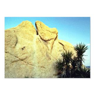 "Granite Boulder And Young Joshua Tree 5"" X 7"" Invitation Card"