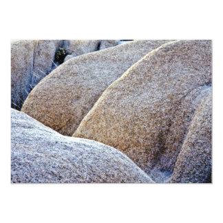 "Granite Boulders - Joshua Tree National Monument 5"" X 7"" Invitation Card"