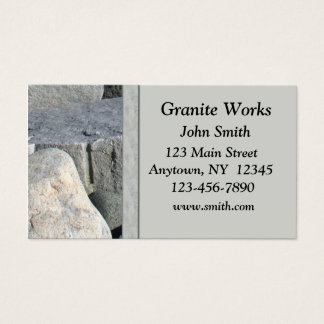 Granite Business Card