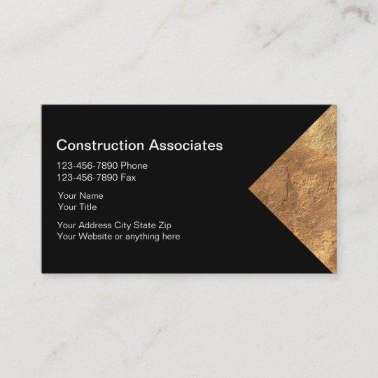 Granite construction business cards zazzle granite construction business cards colourmoves