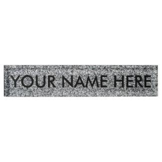 GRANITE - (fine grain / architectural texture) ~ Name Plate