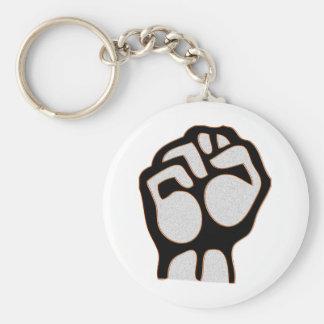 Granite Fist Basic Round Button Keychain