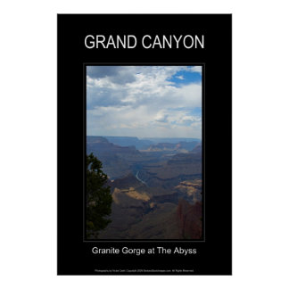 Granite Gorge 4723 Black Poster