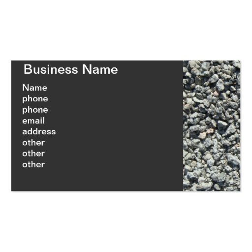 Granite Gravel Double-Sided Standard Business Cards (Pack Of 100)