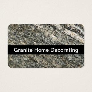 Granite Home Decorating Business Card