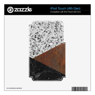 Granite, marble, rusted iron abstract iPod touch 4G skin