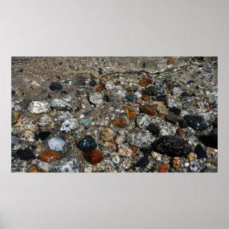 Granite Pebbles in Tenaya Lake Print