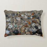Granite Pebbles in Tenaya Lake Yosemite Nature Decorative Pillow