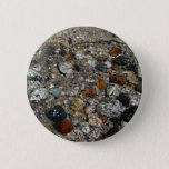 Granite Pebbles in Tenaya Lake Yosemite Nature Pinback Button