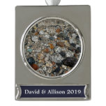 Granite Pebbles in Tenaya Lake Yosemite Nature Silver Plated Banner Ornament
