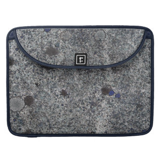 Granite Rock Grey with Blue Details Sleeve For MacBooks