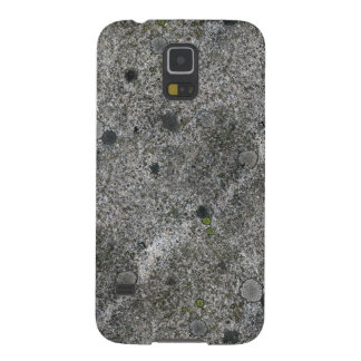 Granite Rock Grey with Green Moss Galaxy S5 Cases