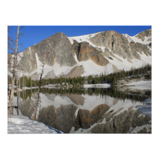 Granite Snow Reflections Poster