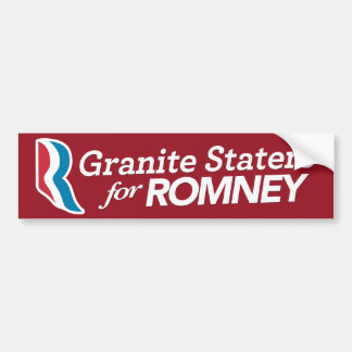 Granite Staters For Romney Stickers CUSTOM COLOR
