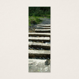 Granite Stepping stones across a river Mini Business Card