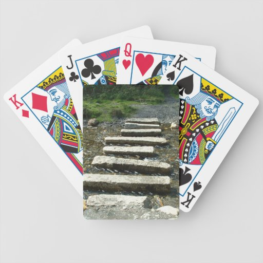 Granite Stepping stones across a river Deck Of Cards