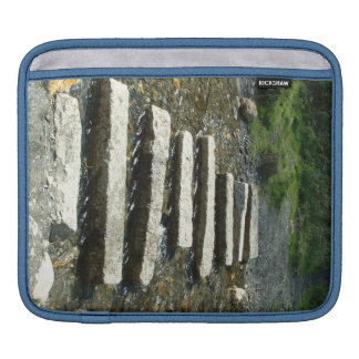 Granite Stepping stones across a river Sleeve For iPads