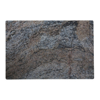 Granite stone red black texture placemat