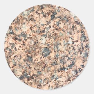 Granite texture classic round sticker