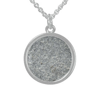Granite texture sterling silver necklace