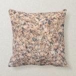 Granite texture throw pillow