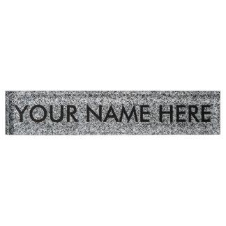 GRANITE v.2 (fine grain / architectural texture) ~ Desk Name Plate