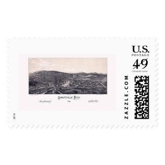Graniteville, MA Panoramic Map - 1886 Stamp