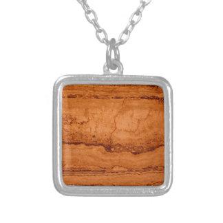 Granito de cobre collar plateado