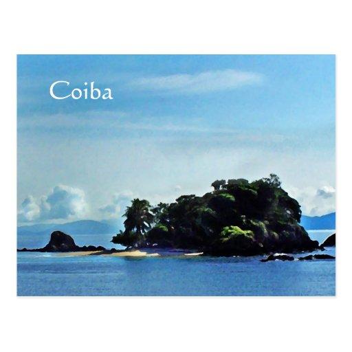Granito de Oro, postal de Coiba