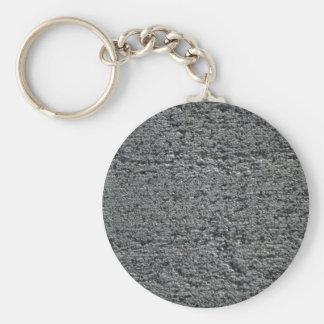 Granito sin pulir llavero redondo tipo pin