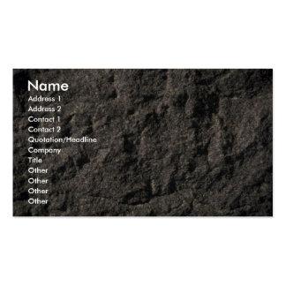 Granito sin pulir plantillas de tarjeta de negocio