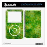 Granito verde calcomanías para iPod classic