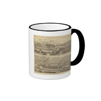 Granja agradable de la visión taza de café