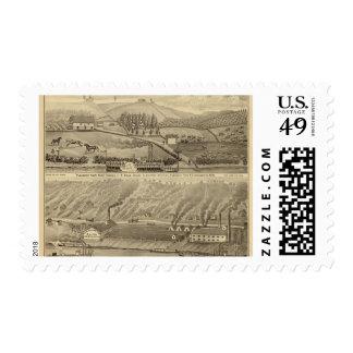 Granja agradable de la visión timbre postal