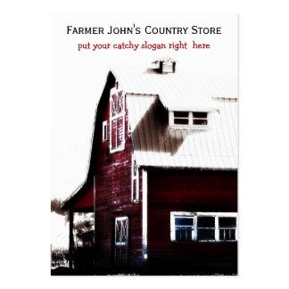 Granja agrícola de vida del país rojo del granero tarjetas de visita grandes