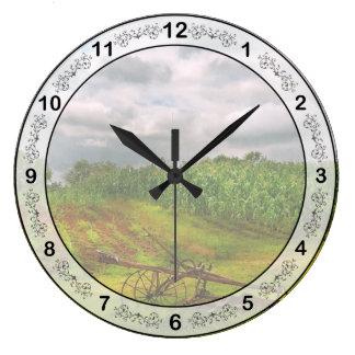 Granja - agricultura biológica reloj redondo grande