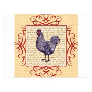 Granja avícola del vintage del gallo de Plymouth Postales