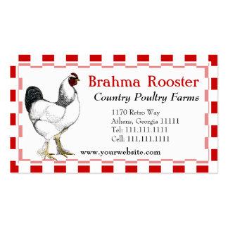 Granja avícola meridional del restaurante del poll tarjeta de visita