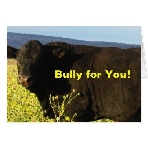 Granja Bull del rancho de la enhorabuena de la Tarjeta De Felicitación