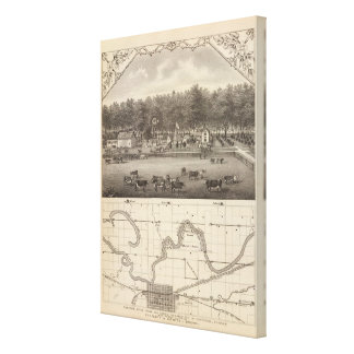 Granja común de la orilla, NE de Concordia, Kansas Impresión En Lona Estirada