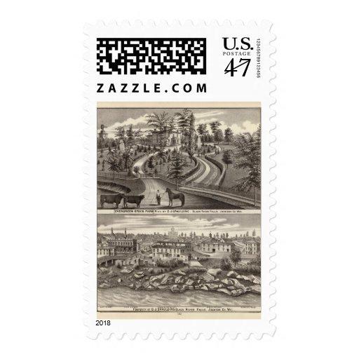 Granja común imperecedera, res timbres postales