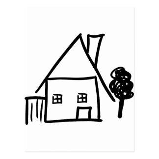 granja con el icono del árbol tarjetas postales