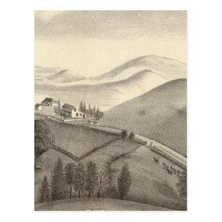 Granja de Blacow pico de la misión Tarjeta Postal